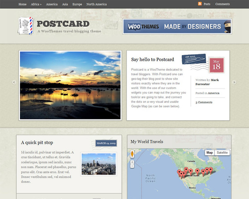 Travel Blog WordPress Theme