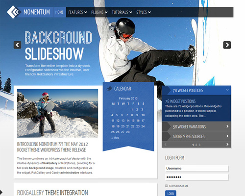 Winter Sports WordPress Theme