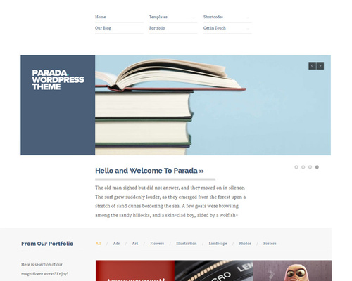 Unusual WordPress Theme