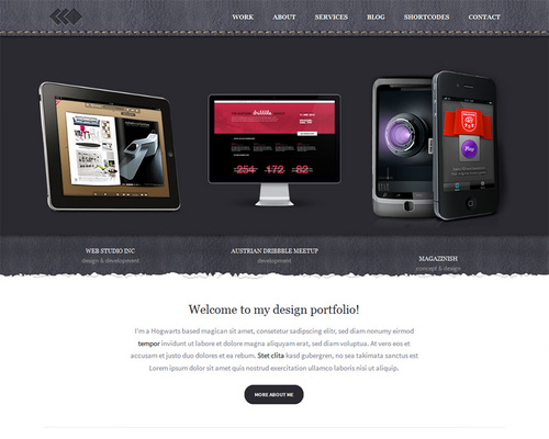 WordPress Theme for Web Designer