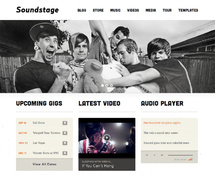 WordPress Musician Theme