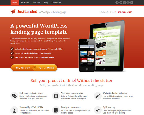WordPress Theme for Apps and Software