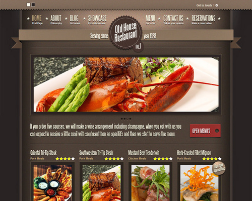 WordPress Theme for Restaurants & Cafes