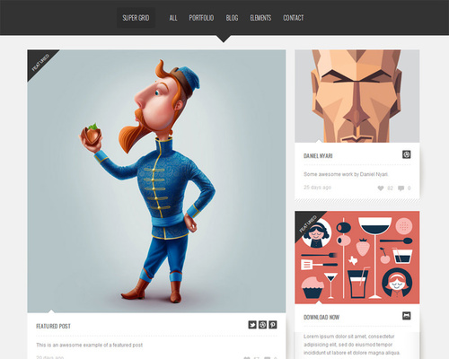 WordPress Theme for Designer
