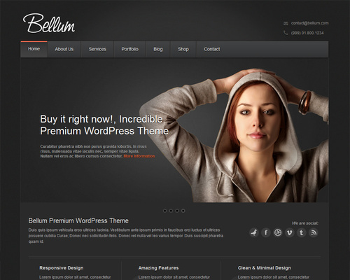 Dark Colored, Black WordPress Themes | Themeshaker.com
