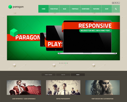 Parallax WordPress Template