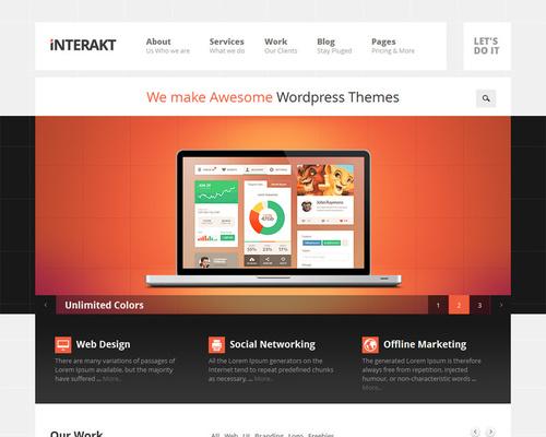 Interact - Web Design Agency WordPress Theme | Themeshaker.com