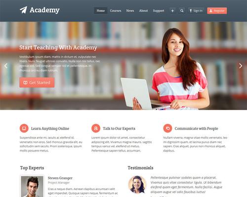 Learning Management WordPress Theme