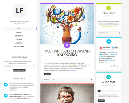 Colorful WordPress Folio Theme