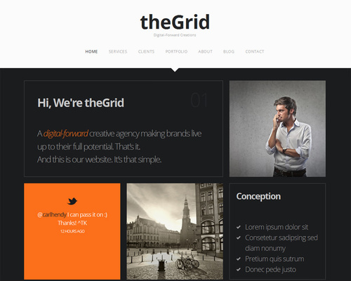 Creative One-Page WordPress Theme