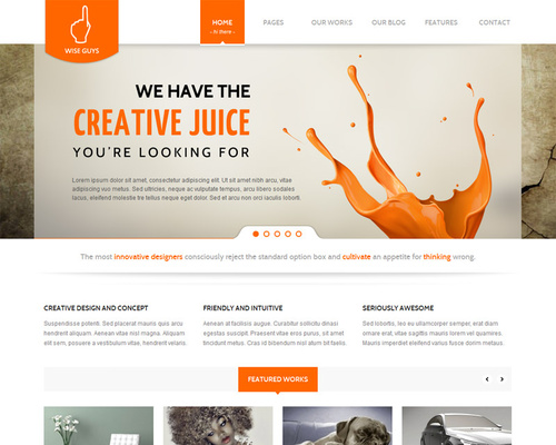 HTML5 WordPress Business Theme