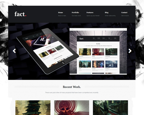 Web Artist Portfolio WordPress Theme