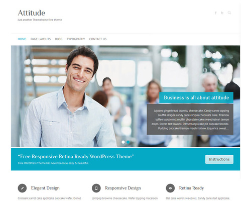 Free Retina-Ready WordPress Theme