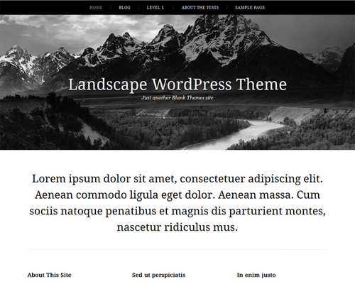 Simple Blank WordPress Theme