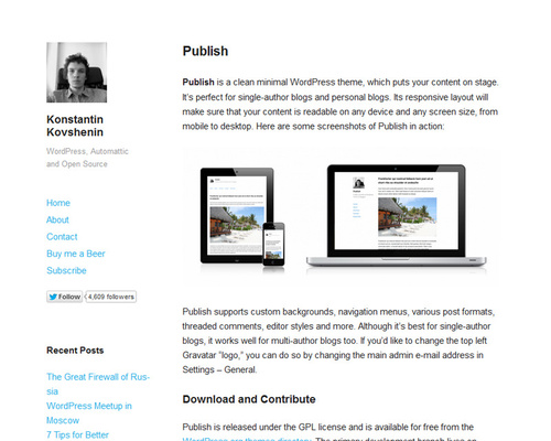WordPress Minimal Theme
