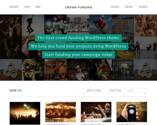 Crowd Funding WordPress Theme