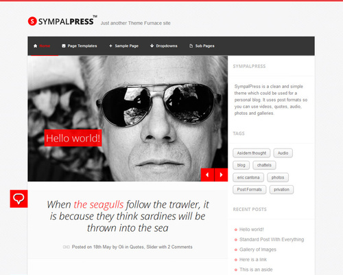 WordPress Personal Template
