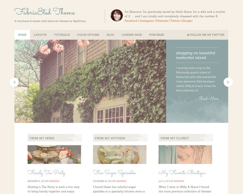 Cute Feminine WordPress Theme