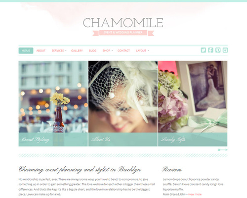 Feminine WordPress Theme