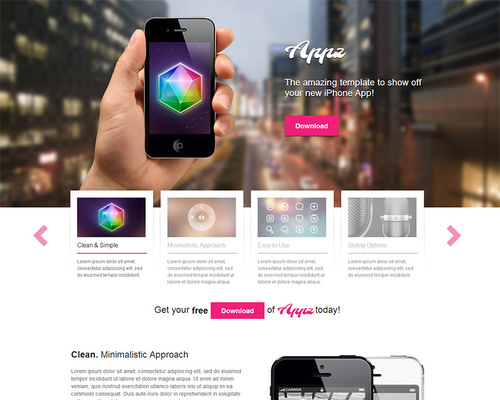 Free iPhone App WordPress Theme