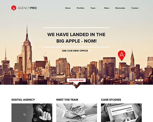 Agency Pro - Professional Agency WordPress Theme | Themeshaker.com