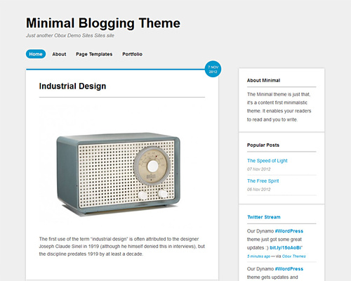 WordPress Minimalistic Theme