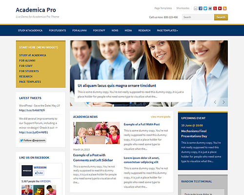 Academic WordPress Theme