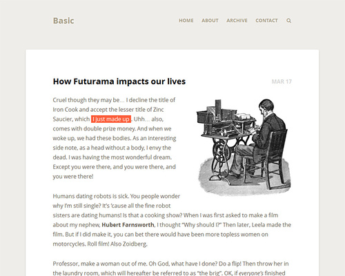 WordPress Simple Blog Theme