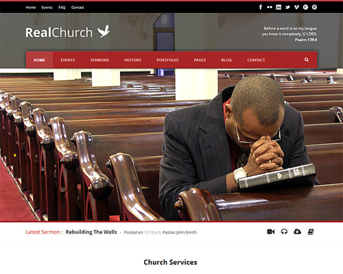 Real Church - WordPress Theme for Churches | Themeshaker.com