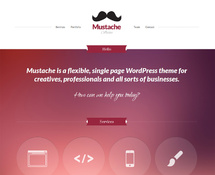Purple WordPress Portfolio Theme