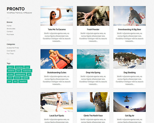 WordPress Theme for Gallery