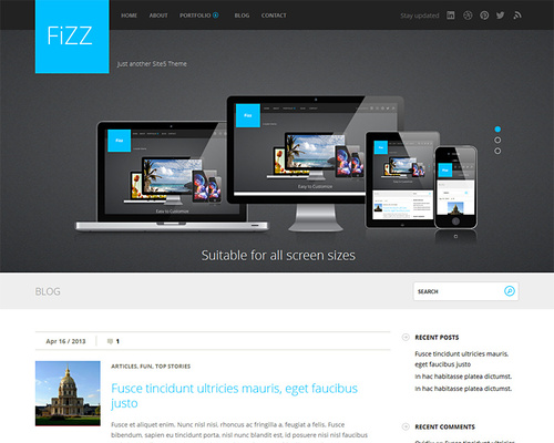 Corporate Blog WordPress Theme