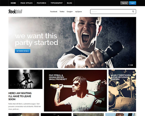 Musician WordPress Template