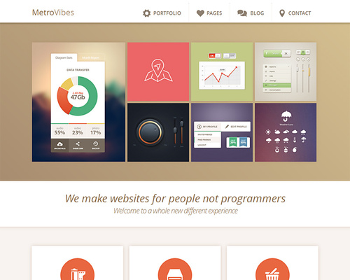 Metro Inspired Agency WordPress Theme