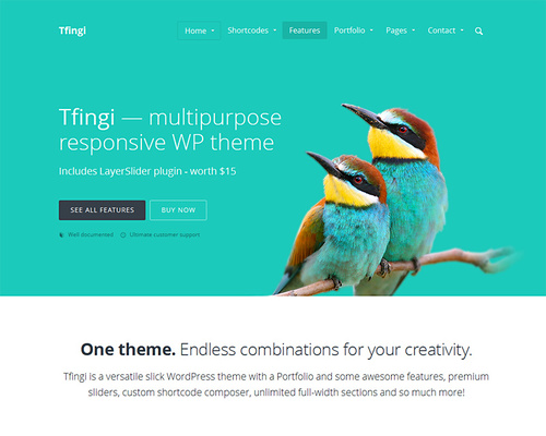 Vibrant WordPress Business Theme