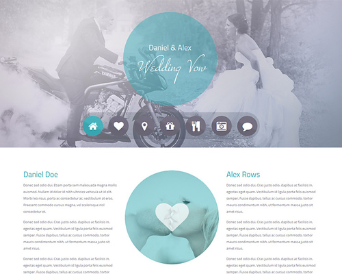 One-page Wedding WordPress Theme