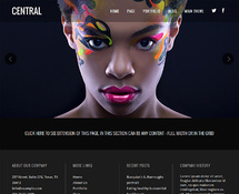 Animated Parallax WordPress Theme