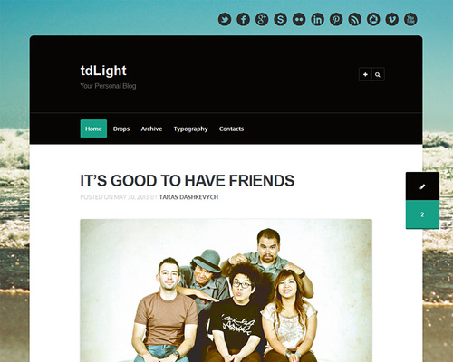 Simple Tumblog Style WordPress Theme