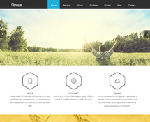 Modern Flat WordPress Parallax Theme