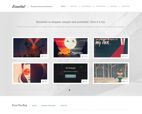 WordPress Theme for Designers