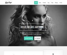 One Page WordPress Parallax Theme