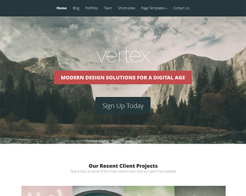 WordPress Theme for Service Providers