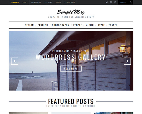 Stylish Magazine WordPress Theme