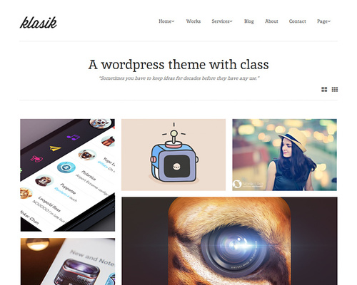 Retina WordPress Theme for Artists