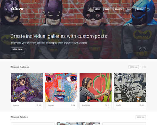 WordPress Theme for Artist