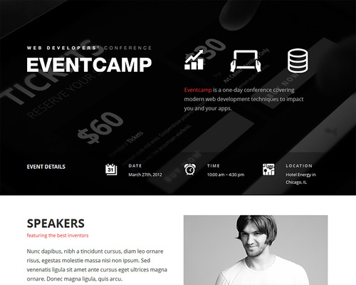 One Page Event WordPress Theme