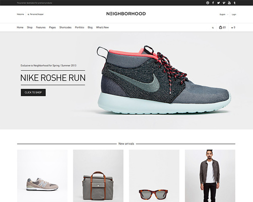 WordPress Theme for Shop