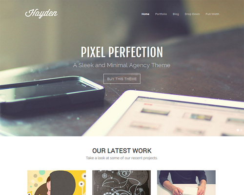 Minimal Agency WordPress Theme