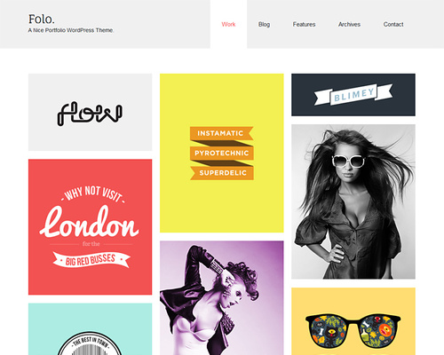 Masonry Portfolio WordPress Theme