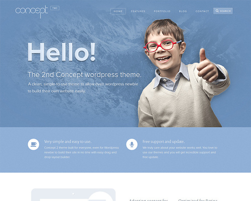 Creative Blue WordPress Theme